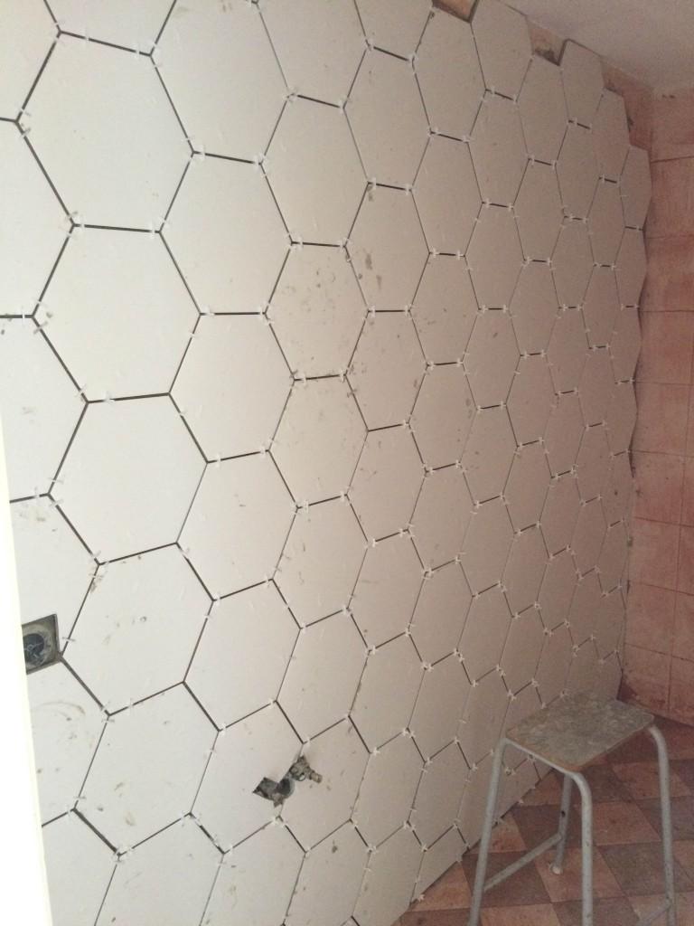 Femke Hexagon tegels badkamer resultaat
