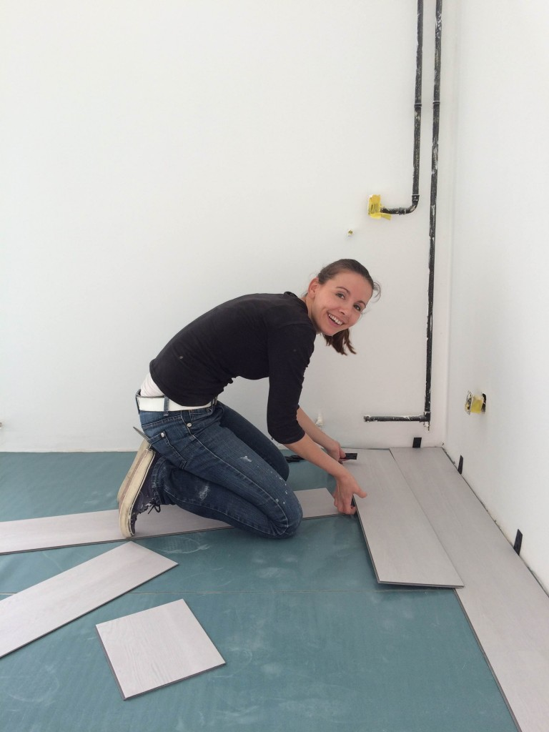 Femke verbouwen PVC vloer leggen