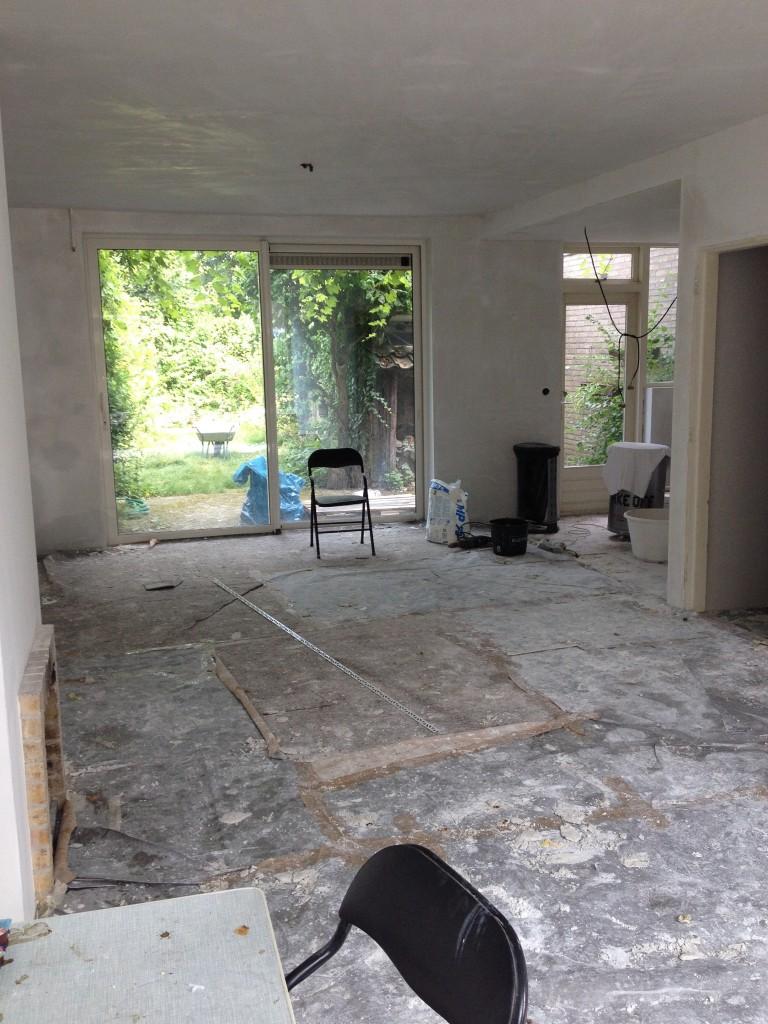 verbouwen woonkamer open keuken