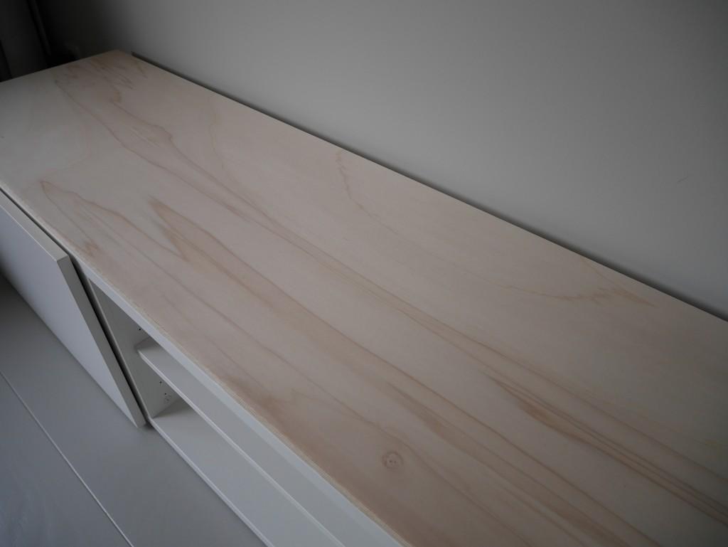 Diy Ikea Besta Tv Meubel Met Houten Plank