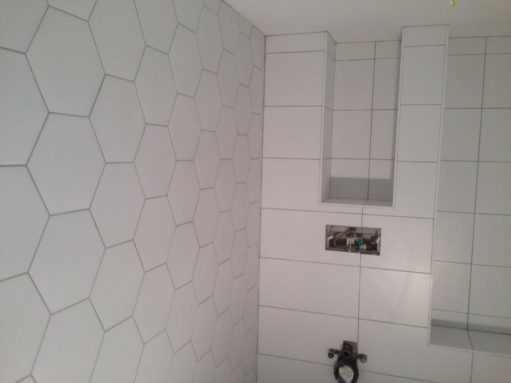 hexagon tegels badkamer