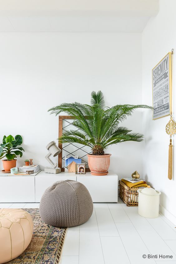 Witte houten vloer - Bron: Binti Home